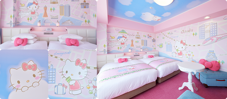 HELLO KITTY's Walk in Kansai Room