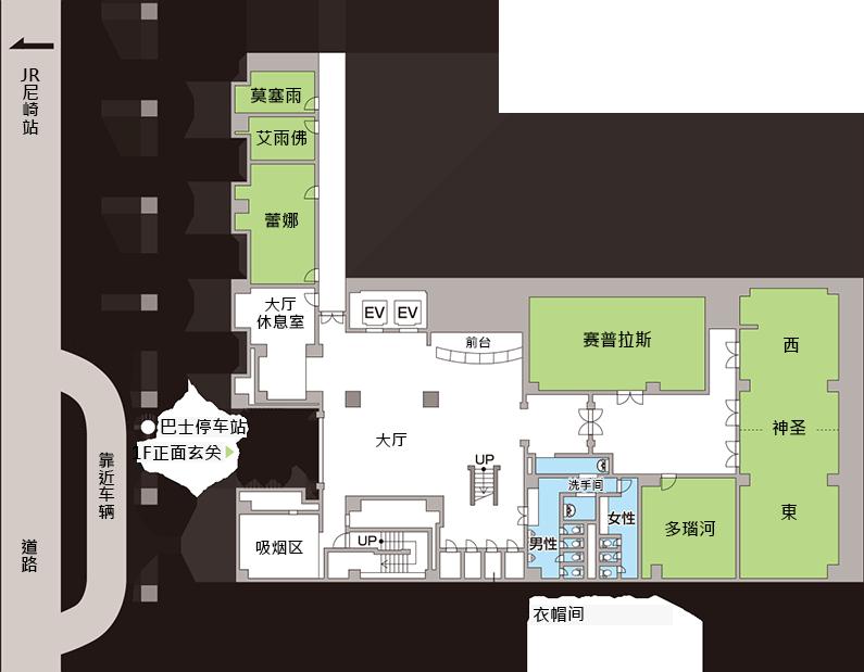 1F楼层地图