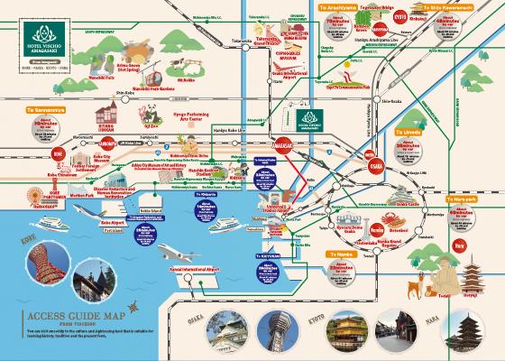 观光交通路线地图